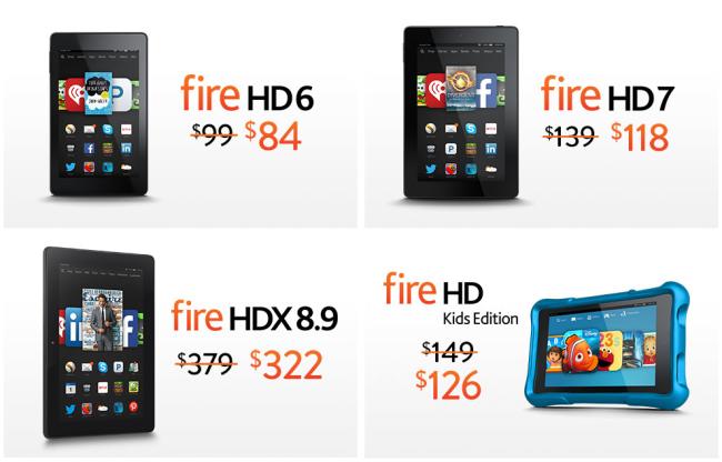 Amazon Fire tablets sale