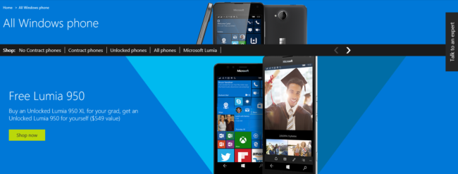 Lumia 950 XL free