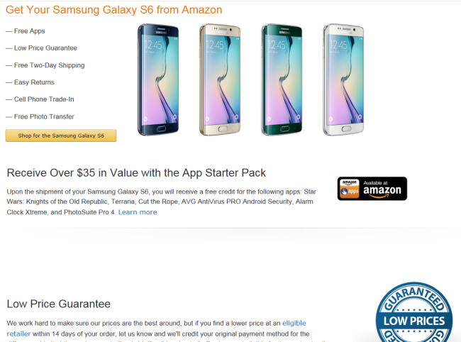 Samsung Galaxy S6 Sale
