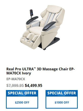 Panasonic EP-MA70CX Real Pro ULTRA 3D Massage Chair