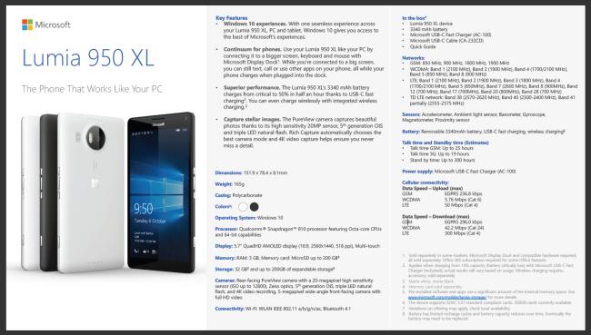 Microsoft Lumia 950 XL Pre Order