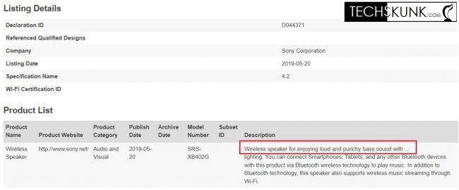 Sony SRS-XB402G M